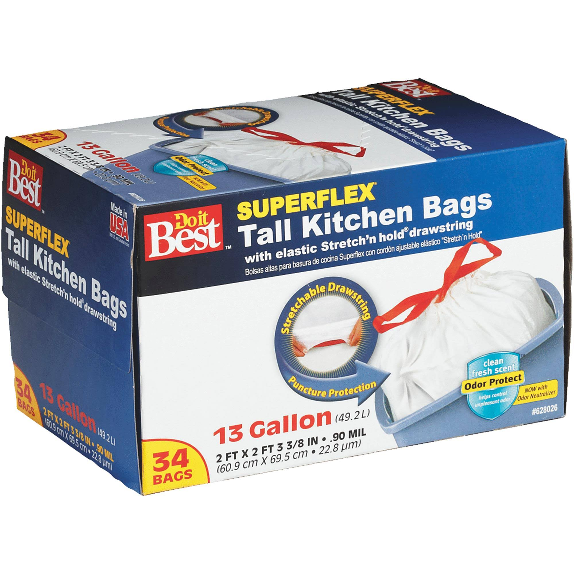 Do It Best Superflex Tall Kitchen Trash Bag - 34 Bags