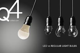 q4 led solutions difference between led and regular light bulbs