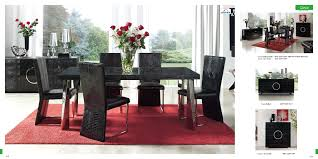 Bobs Furniture Dining Room Chairs by Furniture Rectangle Black Glass Dining Table And Six Black