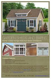 sheds unlimited recently unveiled an all new line of garden
