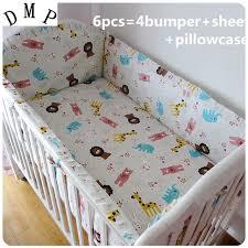 Promotion 6pcs baby sheet Children bedding sets 100% cotton baby