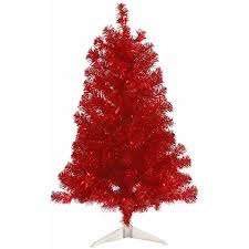 Vickerman 3 Red Artificial Christmas Tree With 50 Lights