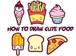 How to Draw Cute Kawaii Food – Easy Step by Step Drawing Tutorial for Kids