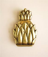 Pretty Pineapple Door Knocker Manificent Design Vintage Brass