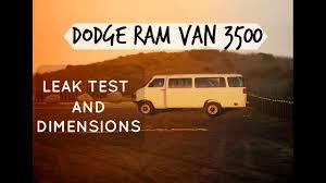 Dodge Ram Van 3500 Camper Conversion Dimensions