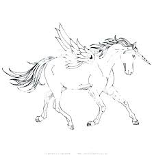 Winged Unicorn Coloring Pages With Wings Free Flying Collection