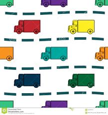 Kids Trucks Retro Background Seamless Pattern Stock Vector ...
