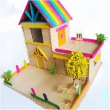 Hot Sale Colored Wooden Popsicle Kids Make Ice Cream Hand Crafts Within Art And Craft Models For