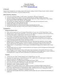 Skill Resume Free Sample Junior Technical Writer Writing Examples