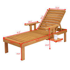 Giantex Patio Chaise Sun Lounger Outdoor Furniture Garden Side Tray Deck  Chair Modern Wood Beach Lounge Chair HW56771 Fascating Chaise Lounge Replacement Wheels For Home Styles Us 10999 Giantex Folding Recliner Adjustable Chair Padded Armchair Patio Deck W Ottoman Fniture Hw59353 On Aliexpress For With Details About Mainstays Brinson Bay Cushions Set Of 2 Durable New Lloyd Flanders Reflections Wicker Sun Lounger Outdoor Amazoncom Curved Rattan Yardeen Pack Poolside Homall Portable And Pe 1 Veranda Cover Beige China Plastic White With Footrest Havenside Kivalina Oak 2pack