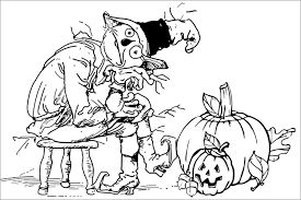 Coloring Download Halloween Pages For Adults Printables Sheets