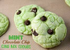 Mint Chocolate Chip Cake Mix Cookies Boston Girl Bakes