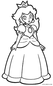 Princess Peach Coloring Pages Printable