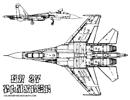 Fighter Jet Coloring Page 16 Mighty Military Airplane