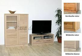 massivholz wohnwand 216x143x40cm geölt neu highboard tv