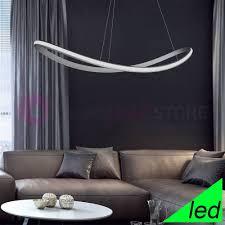 sinuo suspension led oval gebogen l 120 modernes design