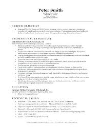 Resume Objective Internship Example Career Objectives For Freshers Web Developer Engineers Exam