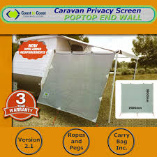 Coast Pop Top Privacy Screen Sun Shade End Wall Side For Caravan ... Roll Out Shade Awning Car Sun Wall Motorized Retractable Caravan Ptop Caravan Privacy Screen End Wall 1850 X 2050 Sun Shade Cloth Side China Mobile Life Re Rv Shades For Awnings Canopy Of Stone Walls Sale Australia Wide Annexes Tent Set 2 Prices Mp Mark Chrissmith Fridge Vent Camec Privacy Screen End 2100 Cloth