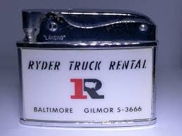 Flat Advertising Ryder Truck Rental RARE Made In Japan Lighter Flat ... Bare Truck Center Intertional Isuzu Dealer Heavy Kennys Cans In Baltimore Md Idlease Of Opens New Lease Rental Service Vanguard Centers Commercial Parts Sales 2013 Freightliner Business Class M2 106 Baltimore Md 5000291611 Seen Today On I95 Funny Fluid Share Rent Trucks Vans Box Trucks Storage Units Eastwood Near Canton Self Plus Budget National Pike Maryland Penske Wmico Attenuator Rentals Available Nationwide Royal Equipment Enterprise Moving Cargo Van And Pickup