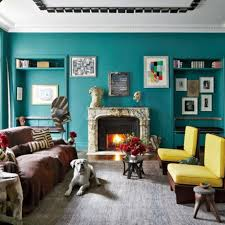 Grey And Turquoise Living Room by Interior Living Room Decoration With Turquoise Wall Paint And