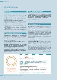 Brak Mitteilungen Das Fortbildungszertifikat Der Brak