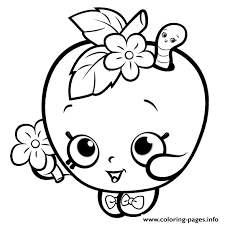 Printable And Online Girls Coloring Pages 2 Print Cute Shopkins For