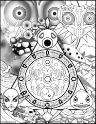 Zelda Coloring Book Pages Life Well Hustled Majoras Mask Page