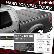 F150 Bed Cover by Lock Hard Solid Tri Fold Tonneau Cover For 2004 2017 Ford F150 5 5
