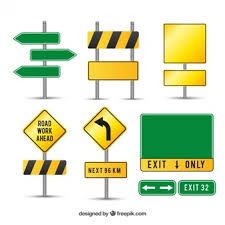 Caution Sign Vectors s and PSD files