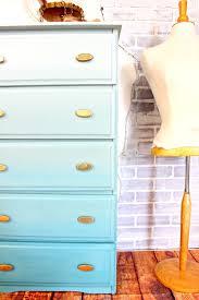 Ombre Painted Furniture Technique DIY Tutorial