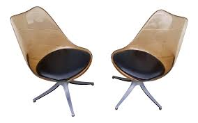 Mid Century Chromcraft Brown Lucite Side Chairs- A Pair Mid Century Modern Chromcraft Tulip Swivel Barstool Chairs Armchairs Sofas Galerie Zeitloos Fiberglass Lounge Chair By Milo Baughman For Thayer Coggin Star Trek Model Chairs 1960s Set Of 4 Four Chromecraft Ding Sculpta Midcentury Qasynccom Six Alex 181 Chromcraft Lounge Pair Mass Custom With Casters And Tube Steel Armchairs In Lavender