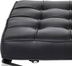 möbel ottomane schwarz flowerw retro chair barcelona stil