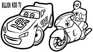 Lightning Coloring Pages Cars Of