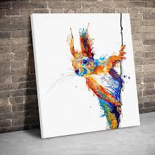 gerahmte gemalt tiere poster schöne eichhörnchen leinwand gemälde wand kunst leinwand drucke bilder wohnzimmer hause inneren rahmen