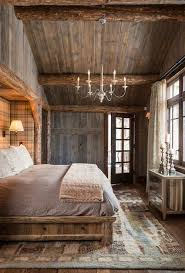 Watm And Cozy Rustic Bedroom With A Simple Chandelier Light Fixture Love The Vaulted Ceiling