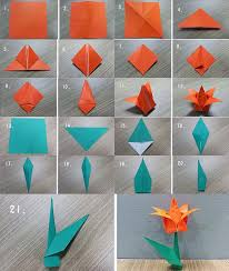 How To Make A Flower Out Of Paper Step By An Origami Lily