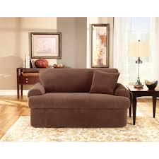 Stretch Slipcovers For Sleeper Sofas by Sure Fit Stretch Suede Piece Sofa Slipcover Walmart Com