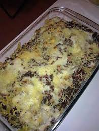 recette de gratin de pâte viande hachée et lardons