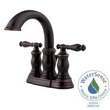Delta Leland Bathroom Faucet Bronze by Delta Leland 4 In Centerset 2 Handle Bathroom Faucet In Venetian