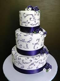 Purple Vines And Flowers Wedding Cake Stephaniethebakerco