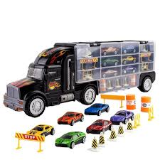 100 Toy Car Carrier Truck Transport Rier For Boys And Girls Age 3 10 Yrs Old Hauler Includes 6 S And Accessories Fits 28