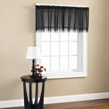 Modern Design Ideas Cottage Set Mason Jars Walmartcom Black Kitchen Curtains And Valances