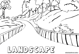 Landscape Road To Forest Coloring Book
