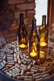 California Vineyard Wedding Gretchen Jonathan Wine Bottle CenterpiecesWine