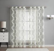 sheer living room curtains amazon com