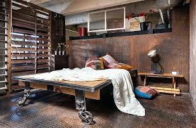 Industrial Bedroom Decor View In Gallery Diamond Plate Metal Flooring Is Also Soothing On Your Feet