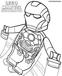 Lego Marvel Superheroes Coloring Pages Avengers Archives Page To Print