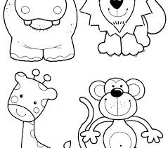 Jungle Animal Coloring Pages Printable Animals Sheets