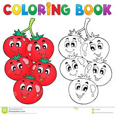 Vegetables Colouring Book Pdf Fruits And Coloring Pages Vegetable Theme Vector Illustration