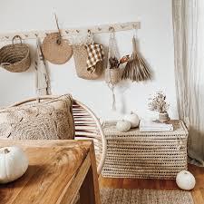 esszimmer deko dekoration truhe rattan boho b